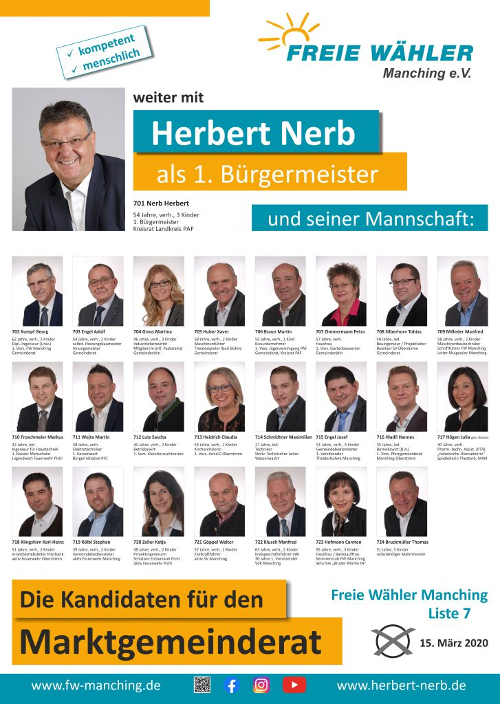 Kommunalwahl 15.03.2020 – unsere Kandidaten