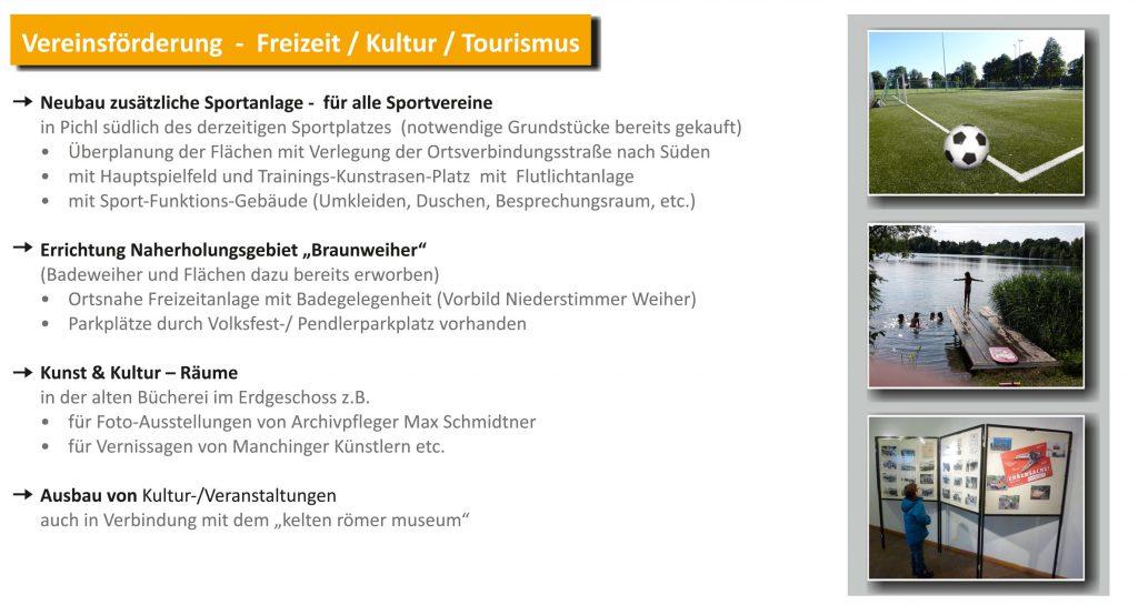 Vereinsförderung / Freizeit, Kultur, Tourismus